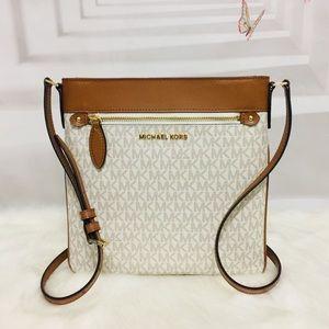 Michael Kors large vanilla Acorn Crossbody  Bag